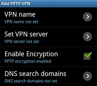 Add PPTP VPN (Enable Encryption)