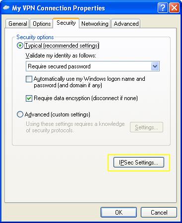 L2TP - Windows XP - ipsec settings