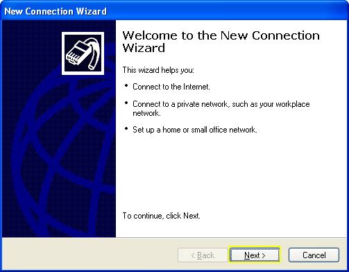 L2TP - Windows XP - next