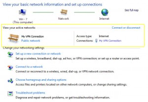 PPTP on Windows 7 - Disconnect