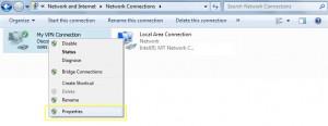 PPTP on Windows 7 - Properties