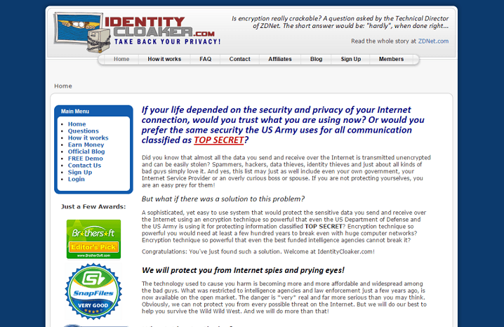 coupon code identity cloaker