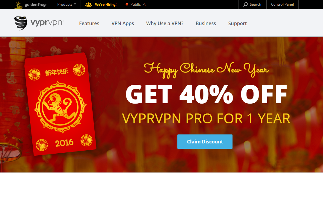 VyprVPN Chinese New Year 2016 Special | VPNCoupons com